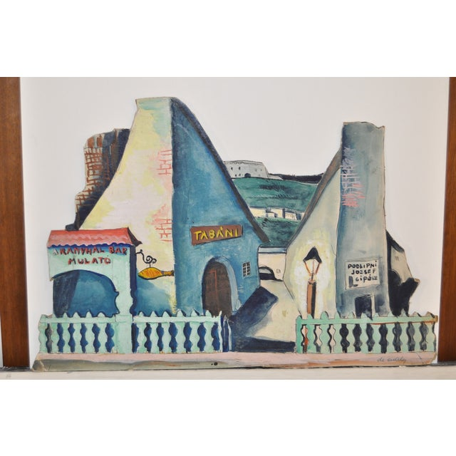 1940's Modern Set Design Painting by F.D. Erdely - Image 5 of 5