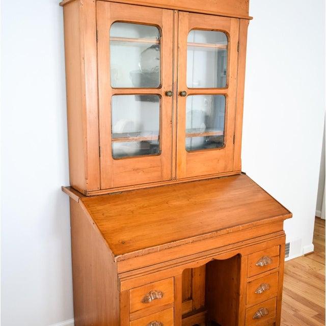 Antique Victorian Secretary Desk Bookcase or Hutch - Image 4 of 8 - Antique Victorian Secretary Desk Bookcase Or Hutch Chairish