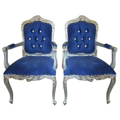 Mid-Century Velvet Armchairs - A Pair - Image 1 of 7