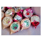 Image of 1950s Fancy Christmas Indent Ornaments - Set of 12