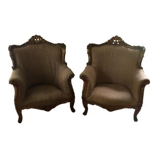 Gilded Rococo Antique Chairs - A Pair
