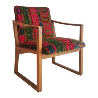 Borge Mogensen Chair With Jack Lenor Larsen Fabric