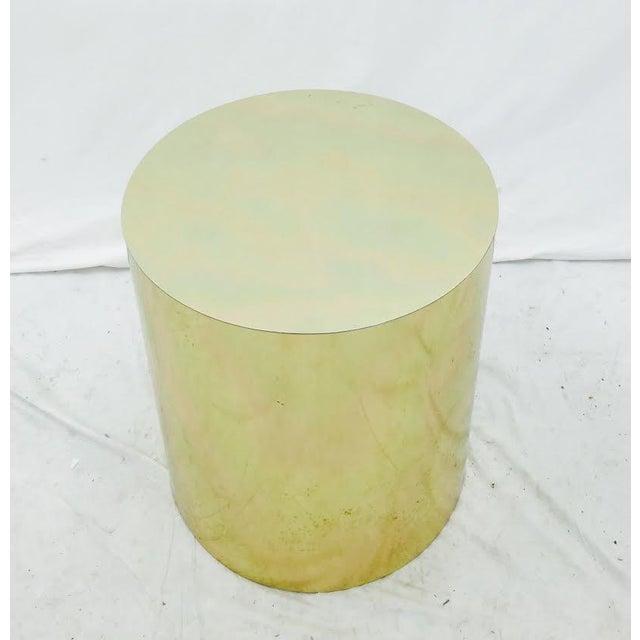 Mid-Century Modern Brass Pedestal Side Table - Image 4 of 4