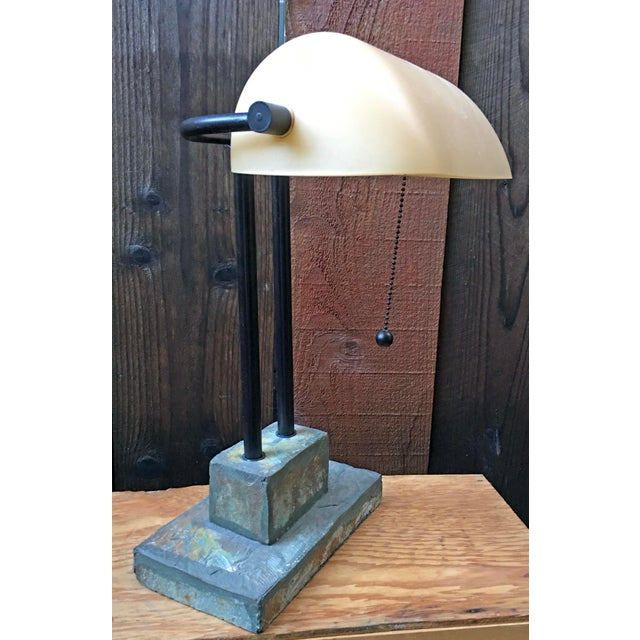 Antique Style Banker's Desk Lamp With Slate Base - Image 4 of 6