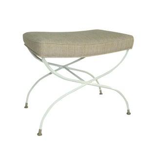 Thibaut Upholstered Iron Cerule Vanity Bench