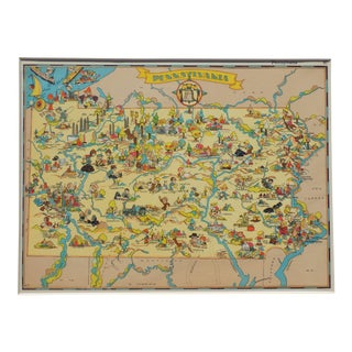 Vintage Map of Pennsylvania, 1935