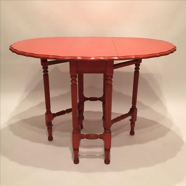 Image of Vintage Orange Drop Leaf Table