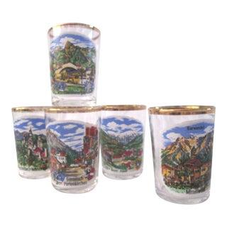 German Scenic Shot Glasses - Set of 5