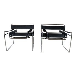 Vintage Italian Marcel Breuer Wassily Chairs- A Pair