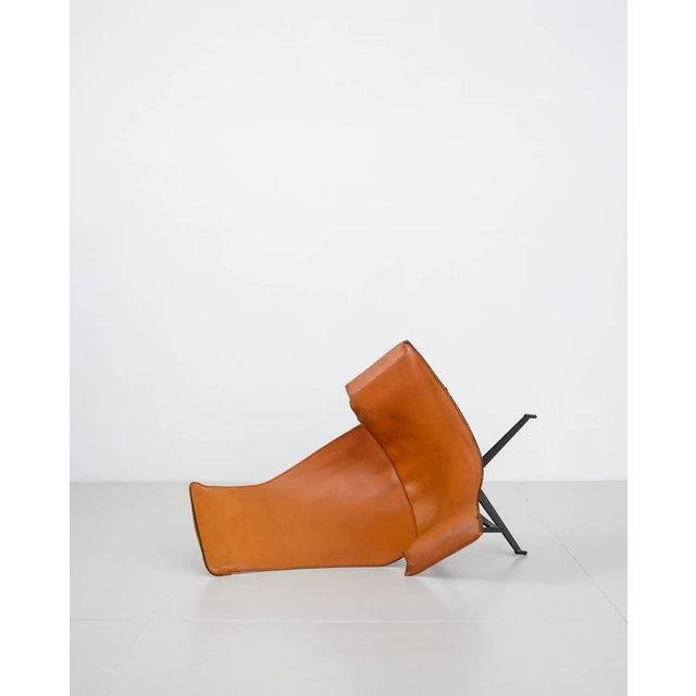 William Katavolos Swiveling Brown Leather Sling Chair, USA, 1950s - Image 6 of 10