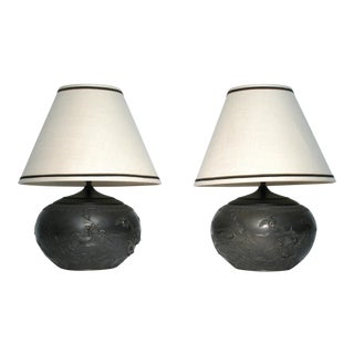Chinoiserie Style Table Lamps, Pair