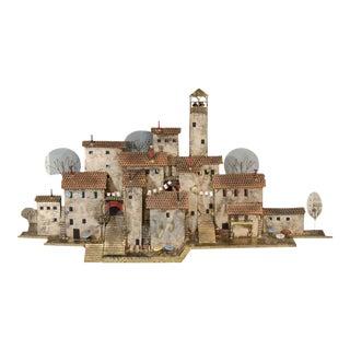 Curtis Jere Wall-Mounted Mediterranean Village Sculpture