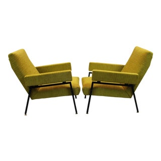 Pair of 1960's Upholstered Lounge Chairs