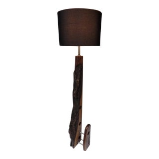 Modern Live Edge Walnut Floor Lamp