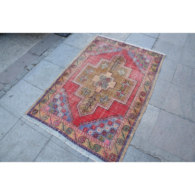 "Turkish Anatolian Oushak Carpet - 41"" x 53"" - Image 3 of 6"