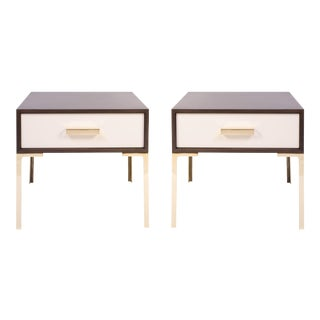 Astor Nightstands in Contrasting Ebony & Ivory by Montage