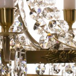 Image of Empire Chandelier - Brass & Crystal