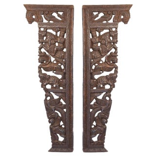 Antique Indian Corbels - A Pair