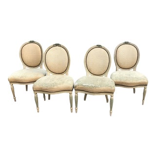 Antique French Dining Chairs - Set of4