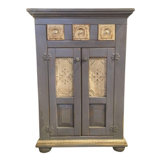 Gray & Yellow Sewing Cabinet