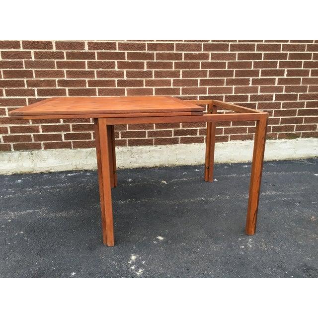 Vintage Danish Modern Extension Teak Table - Image 5 of 7