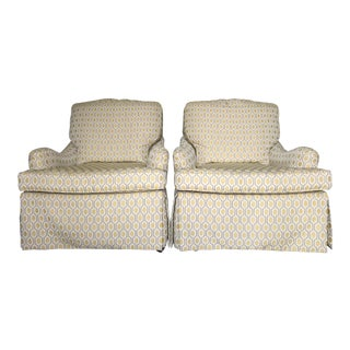 Vintage Baker Skirted Lounge Chairs - A Pair