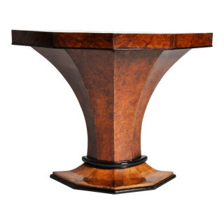 Art Deco Pedestal Console Table