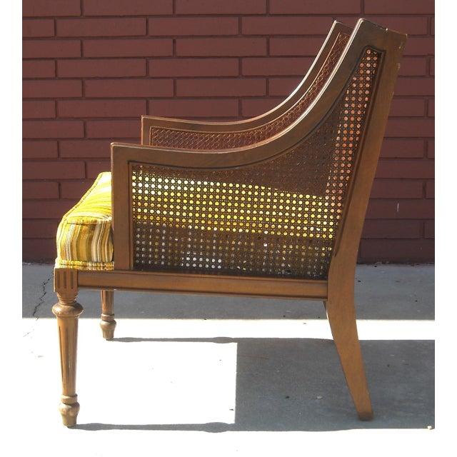 Mid Century Cane Lounge Chair Chairish