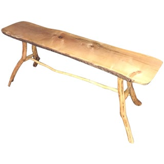 Handmade Rustic Natural Pine Bench