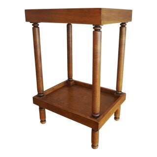 Ethan Allen Handled Side Table