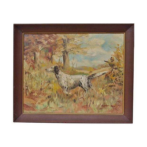 The Hunting Dog Oil Painting - Image 1 of 3