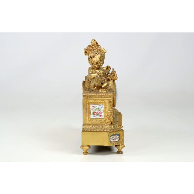 Gilt Bronze & Porcelain Mantel Clock - Image 5 of 11