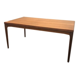 Danish Modern Dining Table with Two Leaves