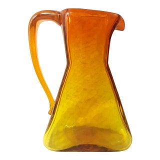 Blenko Glass Mid-Century Modern Amberina Pitcher