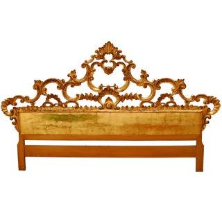 Hollywood Regency French Rococo Giltwood Headboard