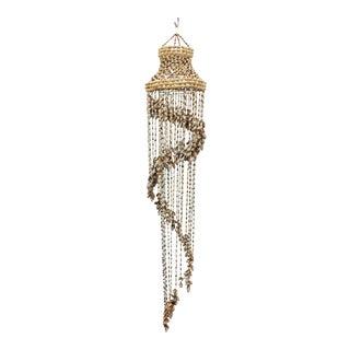 Vintage Hanging Seashell Chandelier