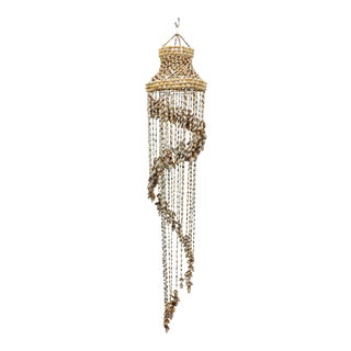 Vintage Hanging Seashell Chandelier