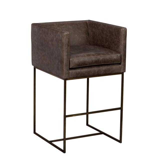 Image of Elite Leather Premier Barstool