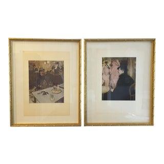 Toulouse Lautrec Reproduction Prints - A Pair