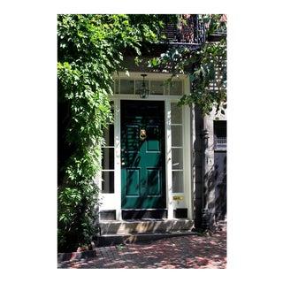 Green Door in Beacon Hill Photo