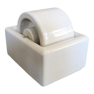Vintage Large White Ceramic Porcelain Stamp Wetter Moistener