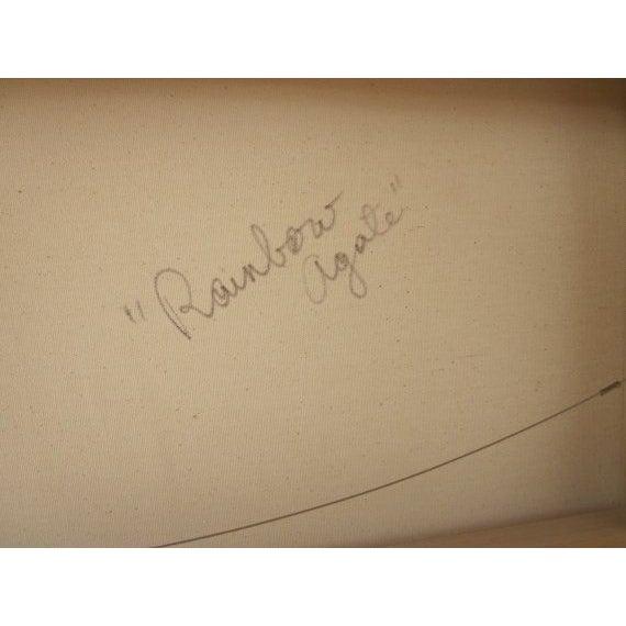 Charles Huckeba Signed Modernist Oil Painting - Image 4 of 6
