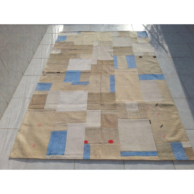 "Turkish Patchwork Overdyed Rug -- 5'1"" x 7'8"" - Image 2 of 6"