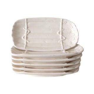 Porcelain Ceramic Asparagus Dishes - Set of 6