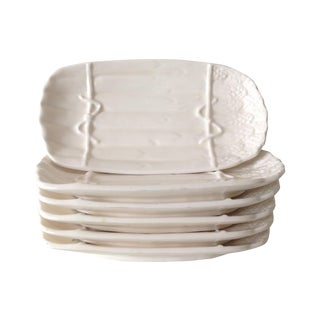 Porcelain Ceramic Asparagus Dishes - Set of 6