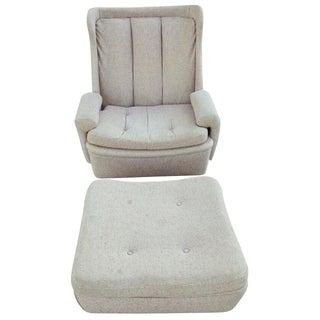 W & J Sloane Mid-Century Chair & Ottoman