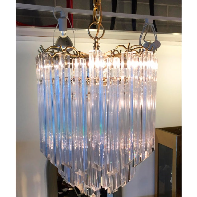 Lucite Waterfall Chandelier - Image 7 of 7