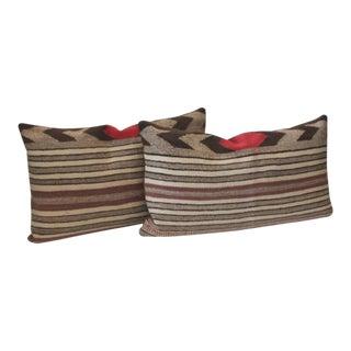 Fantastic Pair of Navajo Saddle Blanket Weaving Pillows