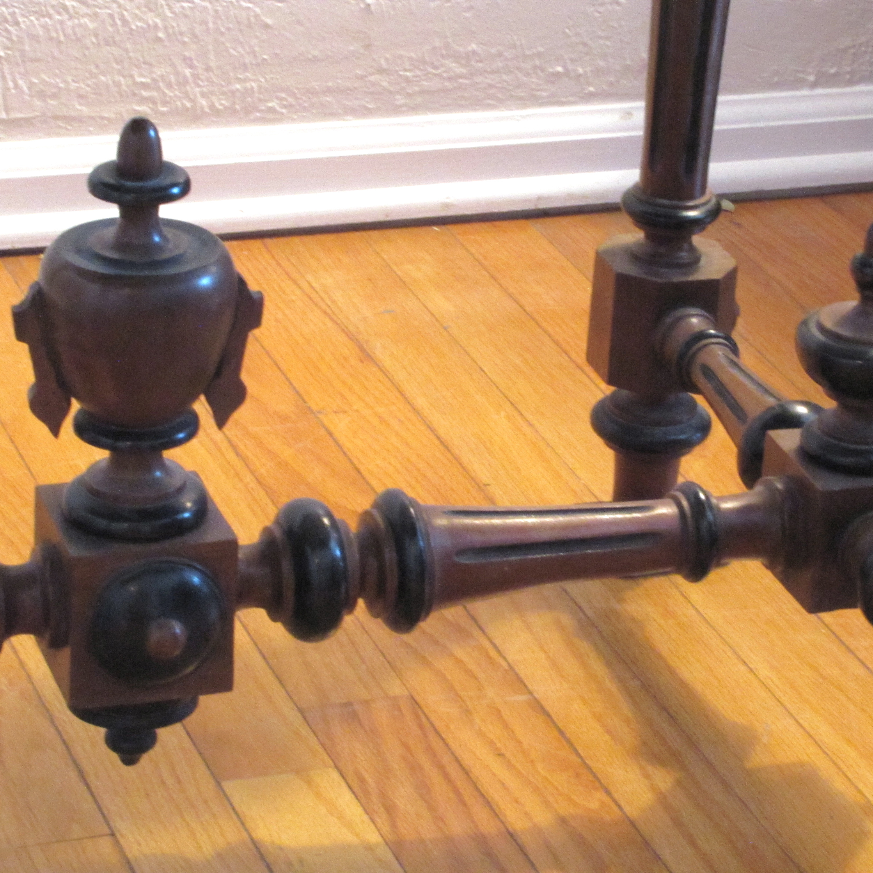 Antique Marble Top Console Table   Image 5 Of 6