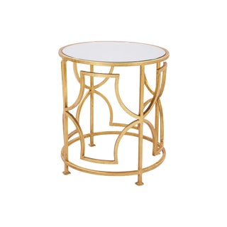 Albertine Side Table in Gold